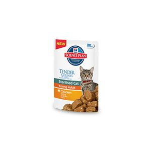 HILL' S SCIENCE PLAN FELINE STERILISED CAT YOUNG  ADULT UMIDO BUSTINA